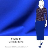 VF205-44 Costume Royal - Royal Blue Dressweight  Stretch-Woven Fabric