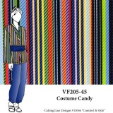 VF205-45 Costume Candy - Colorful Italian Printed Polyester Blouseweight Twill Fabric