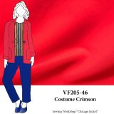 VF205-46 Costume Crimson - Rich Red Dressweight Stretch-Woven Fabric
