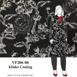 VF206-06 Kläder Coating - Exquisite Textured Wool Blend Fabric From Italy