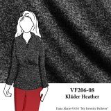 VF206-08 Kläder Heather - Soft Grey Sweater Knit Fabric