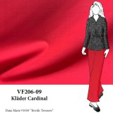 VF206-09 Kläder Cardinal - Red Wool-Polyester Stretch Suiting Fabric