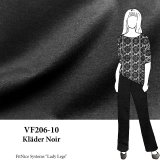 VF206-10 Kläder Noir - Firm Black Ponte di Roma Double-Knit Fabric