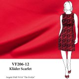 VF206-12 Kläder Scarlet - Firm Red Ponte di Roma Double-Knit Fabric