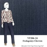 VF206-24 Fredagsmys Chevron - Navy Wool Blend Suiting Fabric