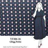 VF206-26 Glögg Petite - Small Motif on Medium Weight Polyester Crepe de Chine Fabric
