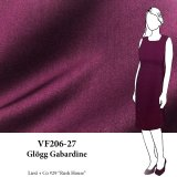 VF206-27 Glögg Gabardine - Maroon Wool and Poly Suiting Fabric