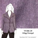 VF206-29 Glögg Donegal - Plum Flecked Wool Blend Tweed Fabric