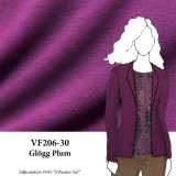 VF206-30 Glögg Plum - Lightweight Flat Sweater Knit Fabric