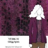 VF206-31 Glögg Spots - Loosely Knit Mohair Blend Fabric