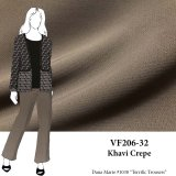 VF206-32 Khavi Crepe - Taupe Lightweight Crepe Suiting Fabric with Good Drape