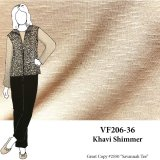 VF206-36 Khavi Shimmer - Golden Lightweight Knit Fabric with Subtle Gold Glimmer