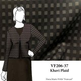 VF206-37 Khavi Plaid - Super Soft Medium Weight Cotton Flannel Fabric with Mocha-Taupe-Black