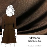 VF206-38 Khavi Mocha - Brown Lightweight Flat Sweater Knit Fabric
