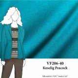 VF206-40 Koselig Peacock - Blue French Terry Bamboo Knit Fabric from Telio & Cie