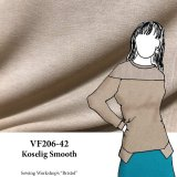 VF206-42 Koselig Smooth - Beige Lightweight Flat Sweater Knit Fabric