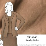 VF206-43 Koselig Coffee - Tan Tropical Rayon Suiting FabricVF206-43 Koselig Coffee - Tan Tropical Rayon Suiting Fabric