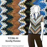 VF206-44 Koselig Flamme - Flame Stitch Sweater Knit Fabric
