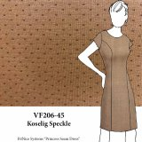 VF206-45 Koselig Speckle - Firm Tan Ponte di Roma Double Knit Fabric with Off-White Accents