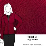 VF211-01 Yoga Puffer - Burgundy Quilted Double-Knit Fabric