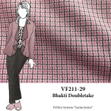 VF211-29 Bhakti Doubletake - Grey-Pink-Black Houndstooth and Check Double-Knit Fabric