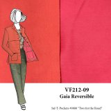 VF212-09 Gaia Reversible - Coral and Pink Stretch-woven Twill Fabric