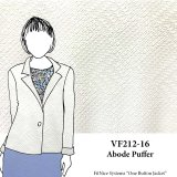 VF212-16 Abode Puffer - White Quilted Double Knit Fabric