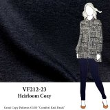 VF212-23 Heirloom Cozy - Dark Navy Rayon Double Jersey Knit Fabric