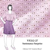 VF212-27 Sustenance Surprise - Lavender Cotton Faux Eyelet Fabric