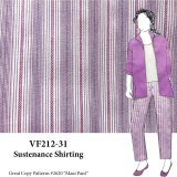 VF212-31 Sustenance Shirting - Violet and White Stretch-woven Cotton Shirting Fabric