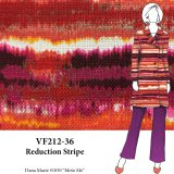 VF212-36 Reduction Stripe - Colorful Printed Cotton Canvas Fabric