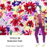 VF212-38 Reduction Voile - Floral Semi-Sheer Cotton Dot Fabric