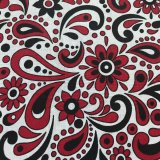 Cotton Bandana Print - Style #4 - Red/Black