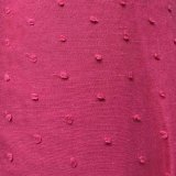 Dotted Swiss Cotton Batiste Fabric - Dark Red
