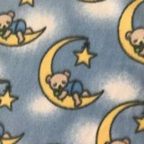 Polar Fleece Print - Sleepy Bears Blue