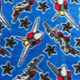 Polar Fleece Print - Jet Fighter Planes