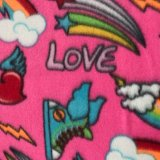 Polar Fleece Print - Pink Love