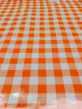 Wholesale Oilcloth - Picnic Check Orange