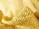 Yasmine - Silk and Metal Fabric - Gold