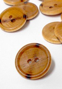 "Wholesale Button - 2 Hole Plastic Wood Grain design Button #95 -  7/8""  1/2 Gross  (72)"
