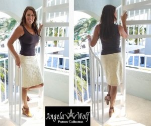 Angela Wolf Sewing Pattern #3145 - The Kate Skirt - sizes 0-18