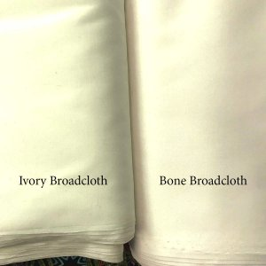 Broadcloth Fabric - Polyester-Cotton Blend - Bone