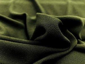 Bubble Crepe Georgette Fabric - New Olive
