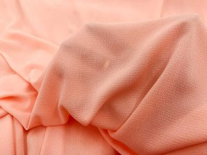 Bubble Crepe Georgette Fabric - Peach