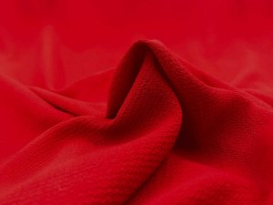 Bubble Crepe Georgette Fabric - Red