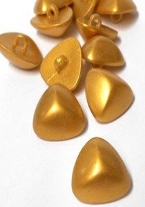 "Wholesale Button - Gold Pyramid Plastic Shank Button #19 - Gold - 20mm - 13/16""  1 Gross (144)"
