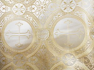Church Brocade - Champagne