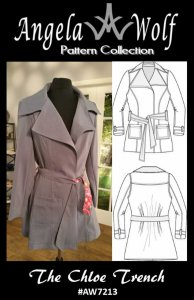 Angela Wolf Sewing Pattern #7213 - The Chloe Trench Coat