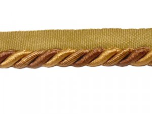 Twisted Cord with Lip #10 - For Home Decor and Upholstery - Bronze