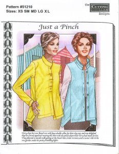 Cutting Line Designs #51210 Just a Pinch - Blouse and Vest Sewing Pattern
